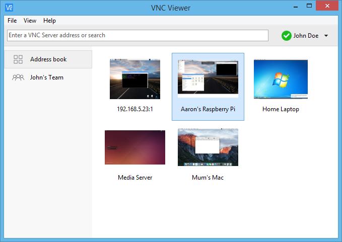 دسترسی سریع اتصالات سیستم ها در برنامه ریموت به نام VNCViewer