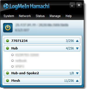 کاربران متصل شده به هاماچی-logmein hamachi