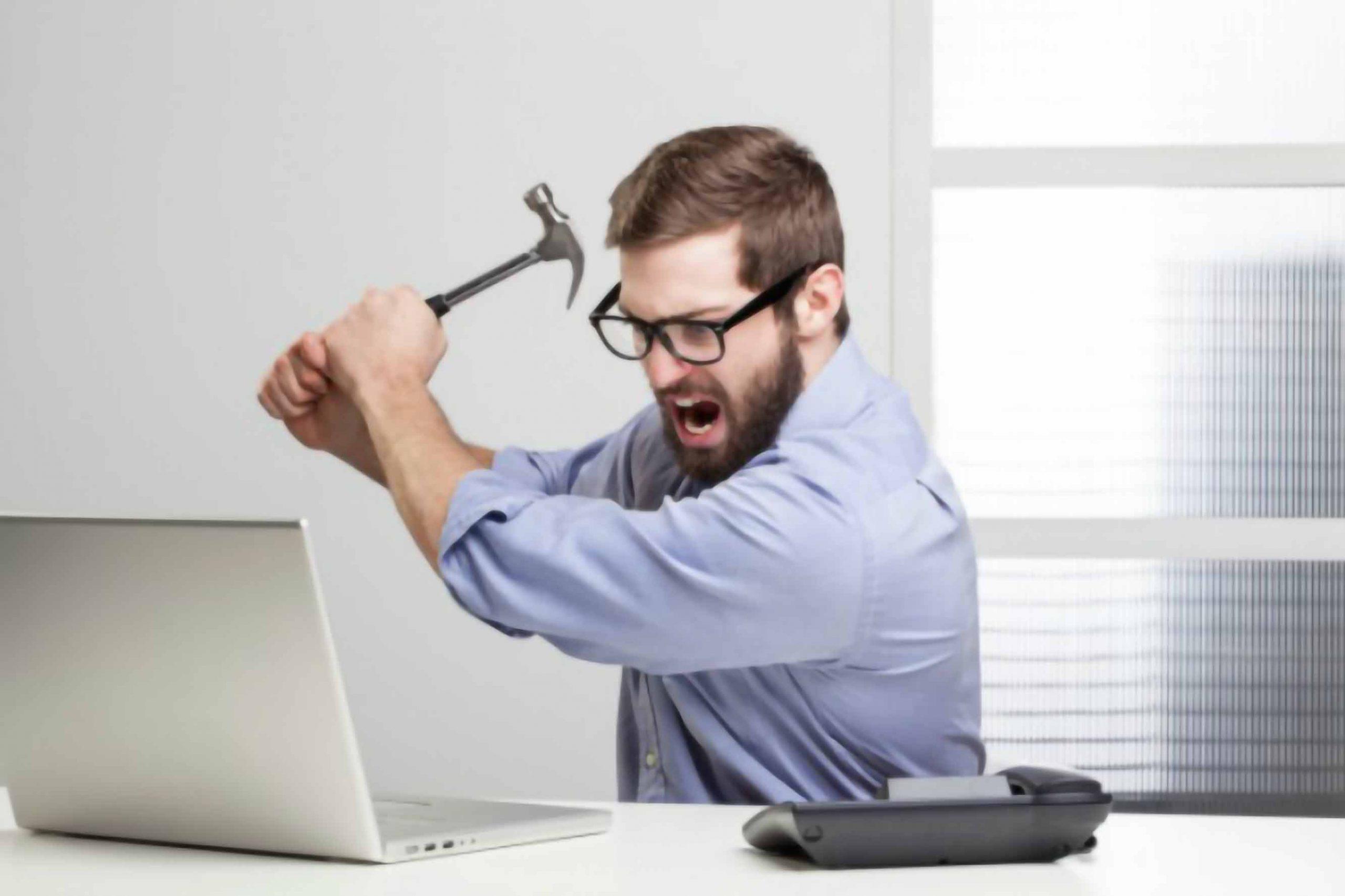 کاربر عصبانی