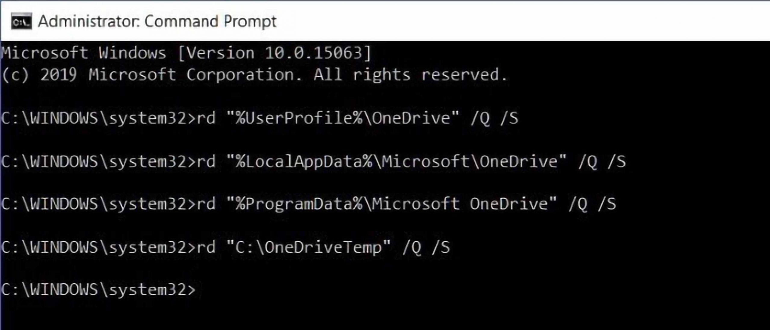 دستور حذف فایل و فولدر در command promt