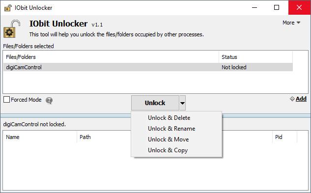 برنامه IObit Unlocker-حذف فایل و فولدر