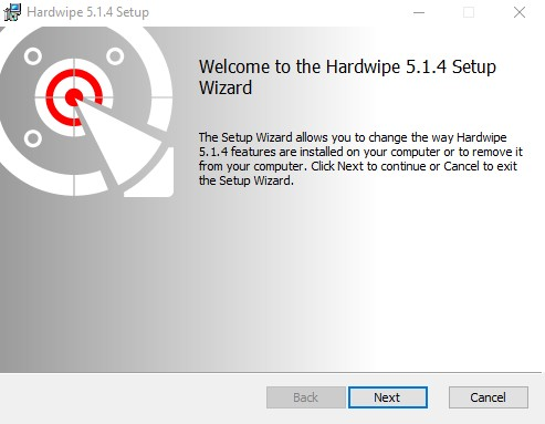 مراحل نصب نرم افزار hardwipe