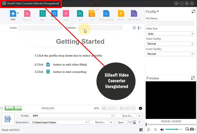 رجیستر نشدن نرم افزار Xilisoft Video Converter