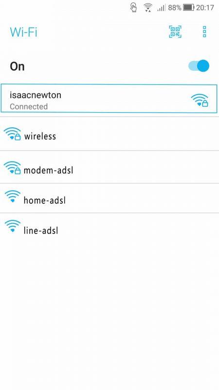 نمایش SSID شبکه در موبایل