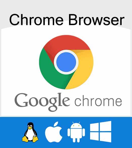 پشتیبانی google chrome از نسخه های مختلف