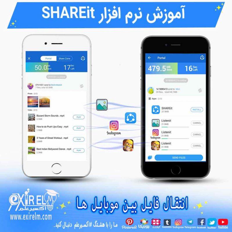 ارسال فایل بین موبایل ها با برنامه shareit