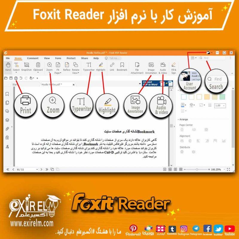 آموزش نرم افزار فوکسیت ریدر_مشاهده اسناد PDF