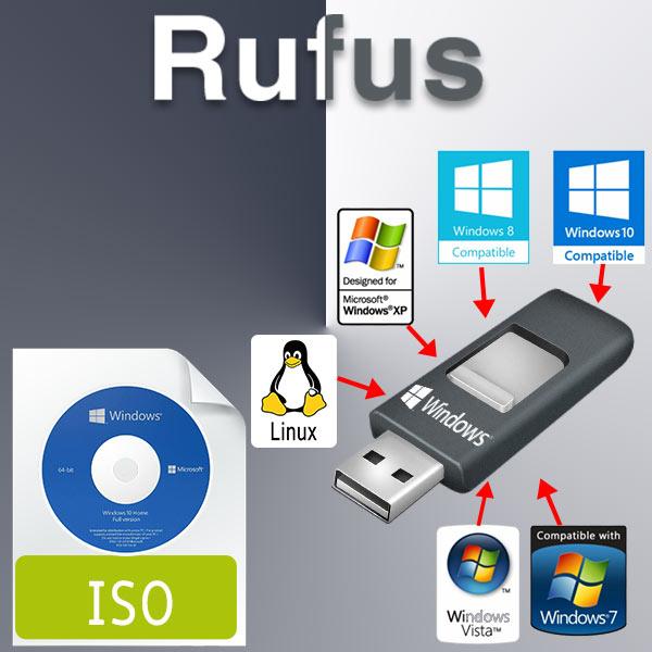 نرم افزار رفوس-نصب ویندوز از طریق فلش USB